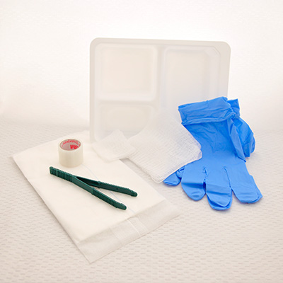 Sterile, Medium Wound Dressing Tray