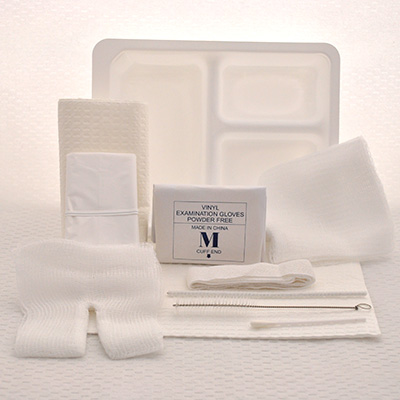 Tracheotomy Care Tray Care and Clean Set