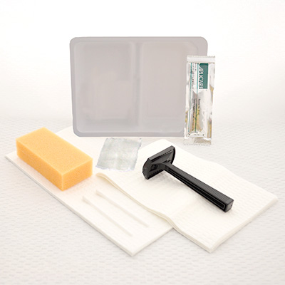 Shave prep tray